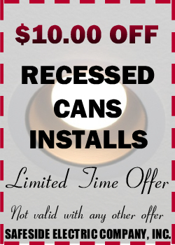 $10.00 Off Recessed Can Installs