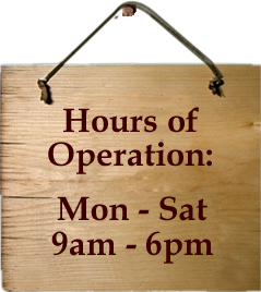Operation Hours 9-6,M-Sat